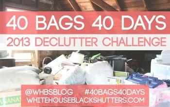 40 BAGS IN 40 DAYS Decluttering Challenge 2013