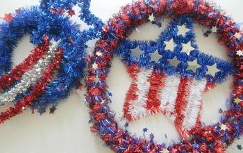 quick and easy patriotic wreaths, crafts, patriotic decor ideas, seasonal holiday decor
