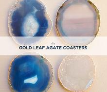 diy gold leaf agate coasters, crafts, DIY Gold Leaf Agate Coasters