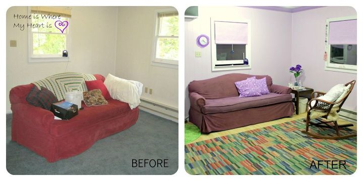 Dyed slipcover in the therapy room