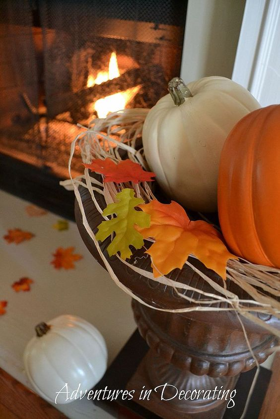 our 2013 fall mantel, seasonal holiday d cor, wreaths