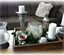 candlelight tray, christmas decorations, seasonal holiday decor, Here is my candlelight tray in the daytime