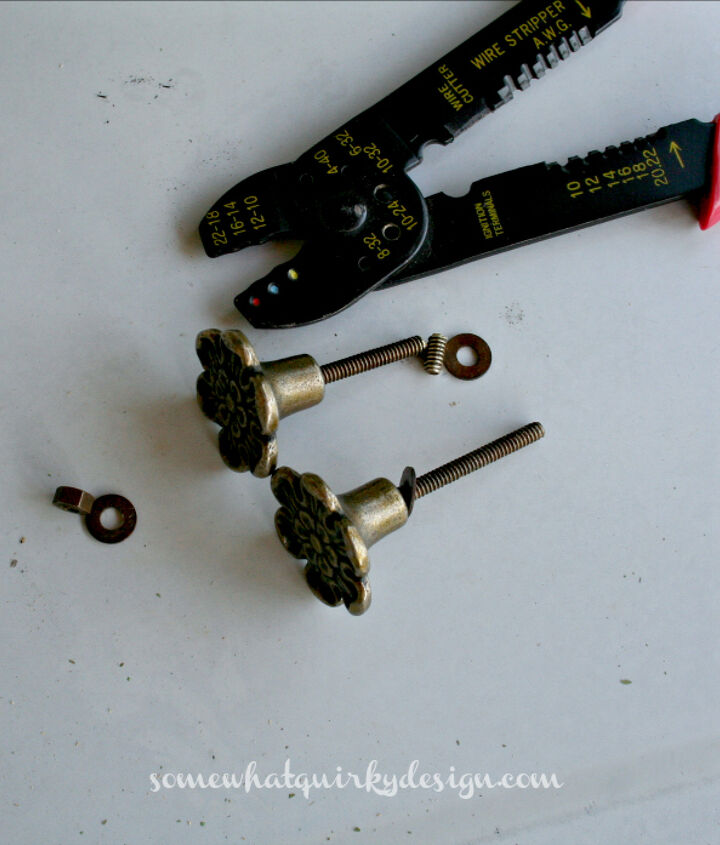 how to trim the screw posts on a drawer knob, windows