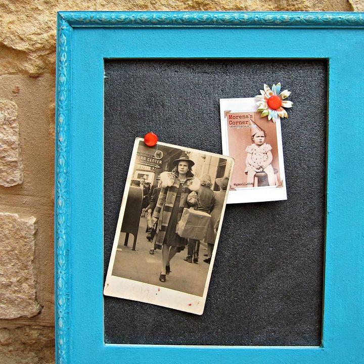 Diy Window Frame Bulletin Board Chalkboard Paint Crafts