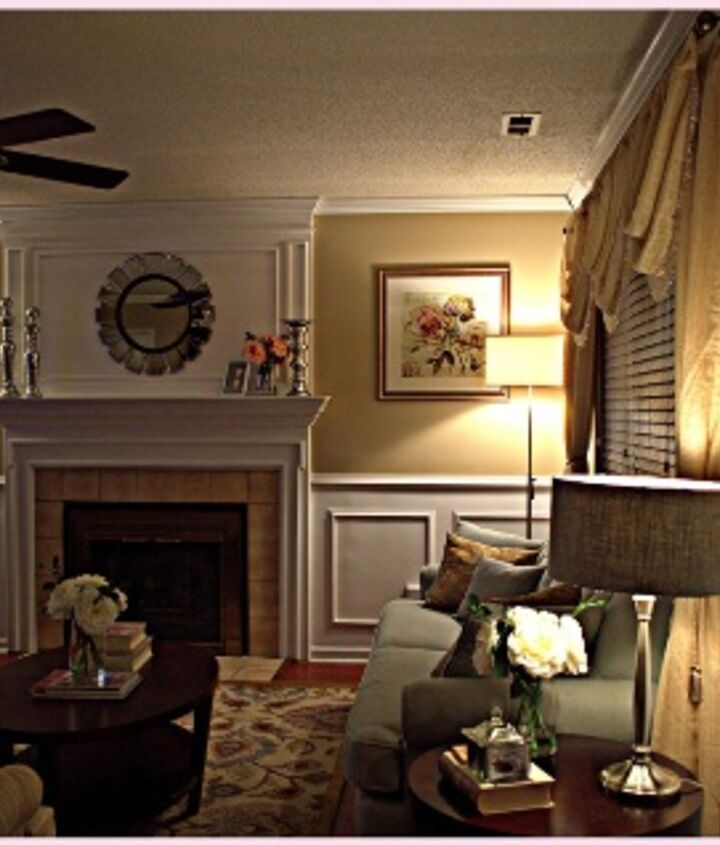 I used Transitional style mixed with romantic style decorating for the living room. If you want to see more Before and After photos as well as the cost breakdown you can visit http://www.myloveofstyle.com