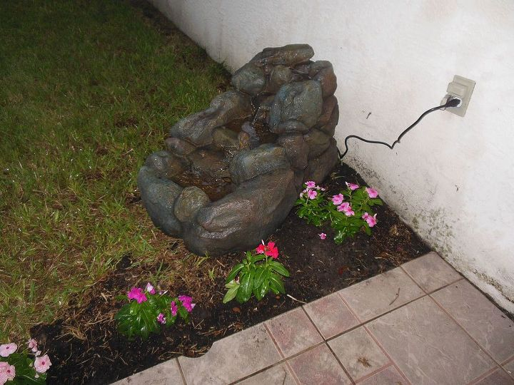 Installed the water feature but I still need to landscape around it 9/10/13