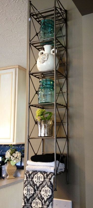 cd tower upcycle, repurposing upcycling, storage ideas, CD Tower Upcycled as a kitchen display