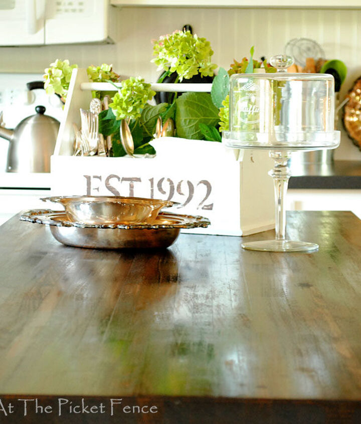 How to stain Ikea butcher block counters
