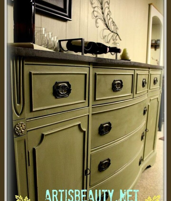 head on over and check out my rescued federal style buffet makeover, painted furniture