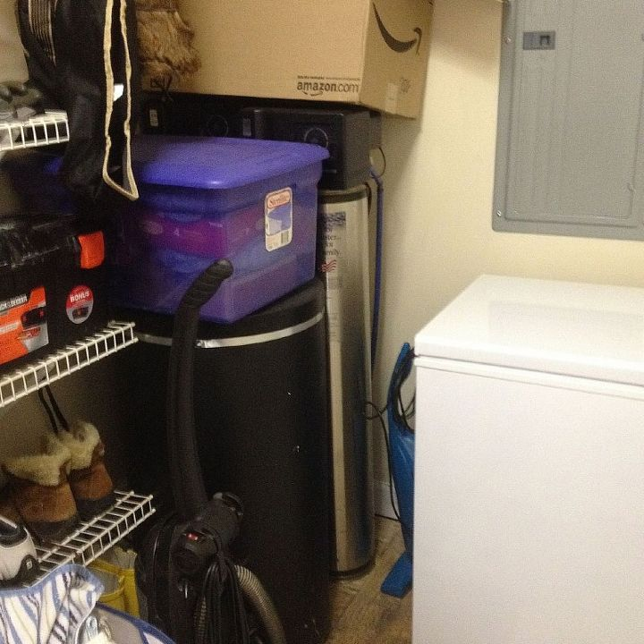q how to organize decorate a very long and narrow laundry room, home decor, laundry rooms, organizing, my huge water filtration system