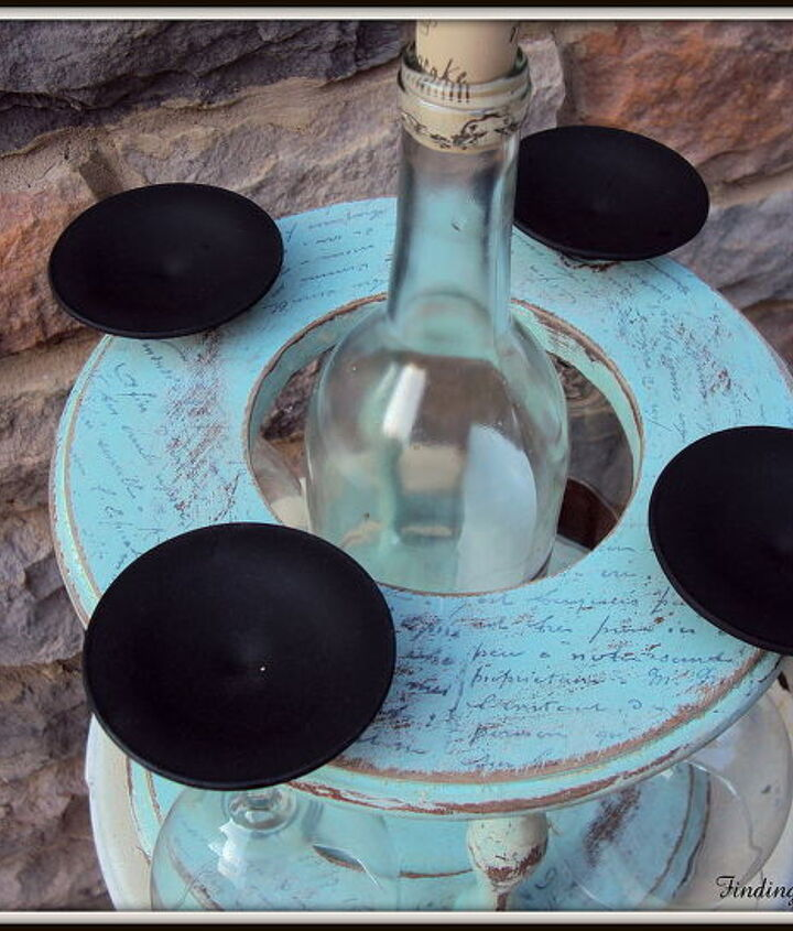 diy chalkboard wine glasses and a distressed holder, chalk paint, chalkboard paint, crafts