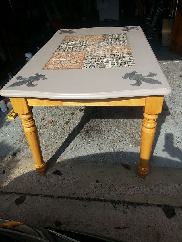 kitchen table and stool makeover, kitchen design, painted furniture