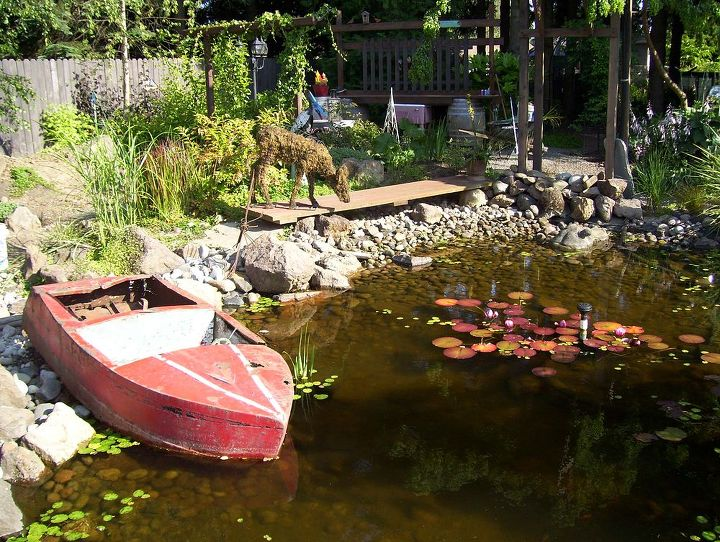 This is my Red Boat which many years ago was a coin operated childs ride.