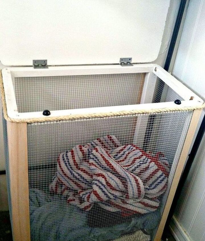 refab or diy some wire mesh baskets y all, bathroom ideas, crafts, home decor, repurposing upcycling