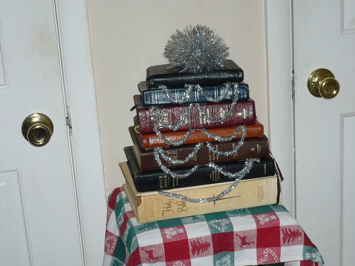 bible christmas tree, christmas decorations, seasonal holiday decor