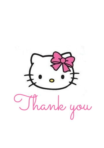Hello Kitty Thank you Tags