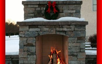 custom outdoor fireplace, fireplaces mantels, outdoor living, Isokern Magnum fireplace faced with Techo Bloc Mini Creta wall block in Champlain Gray