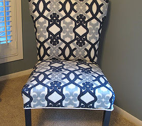 How To Recover A Parsons Style Chair, Reupholster, I Just Recovered The  Front And