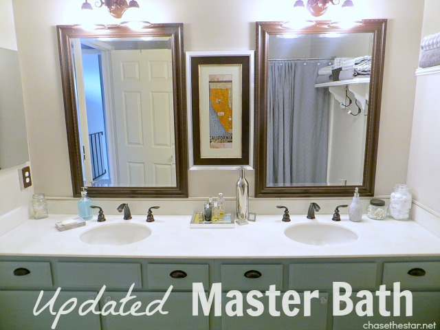 Fresh paint, new #faucets, and a little TLC is all this bathroom needed for a whole new look.