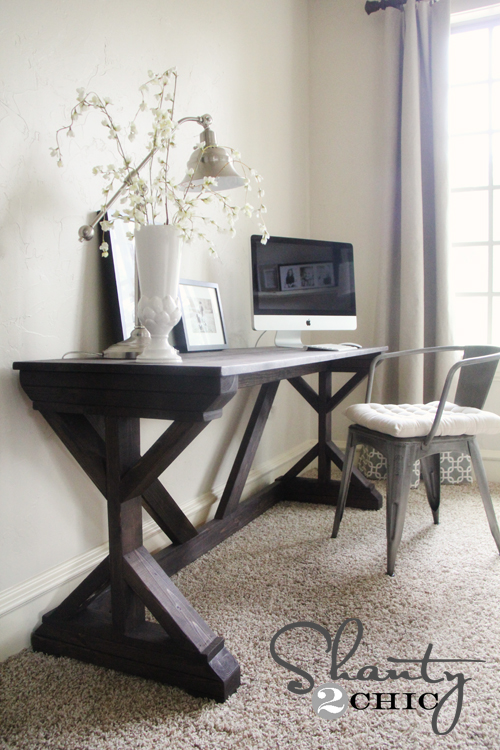 DIY Farmhouse Desk for my Bedroom! | Hometalk