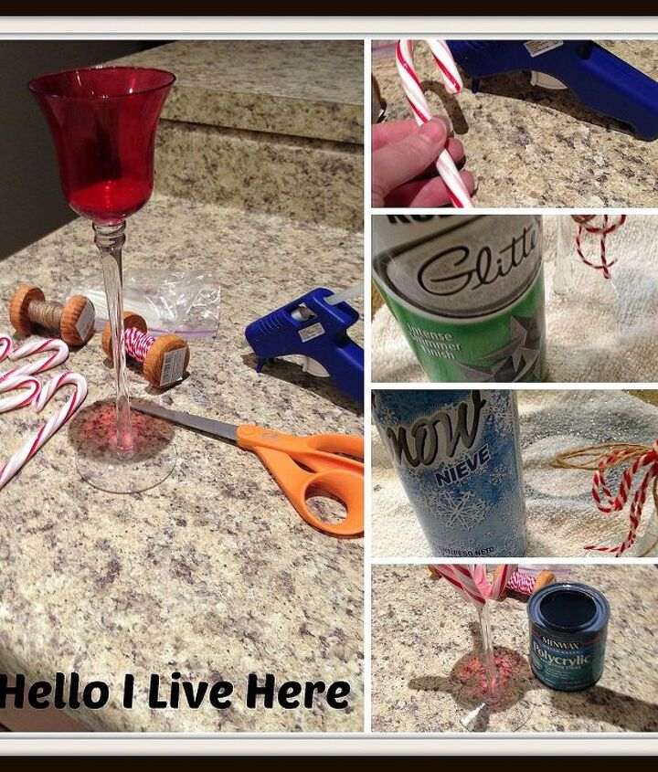 What you need to get the DIY Candy Cane Candle project started.