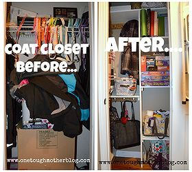 Before And After Coat Closet Transformation