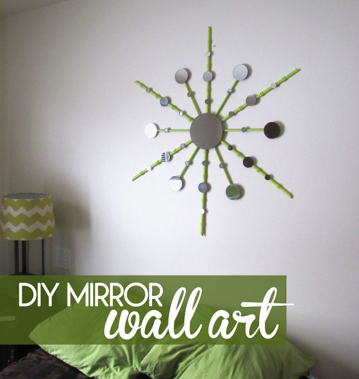 diy mirror wall art, crafts, home decor, This is the new mirror project hanging in my guest bedroom