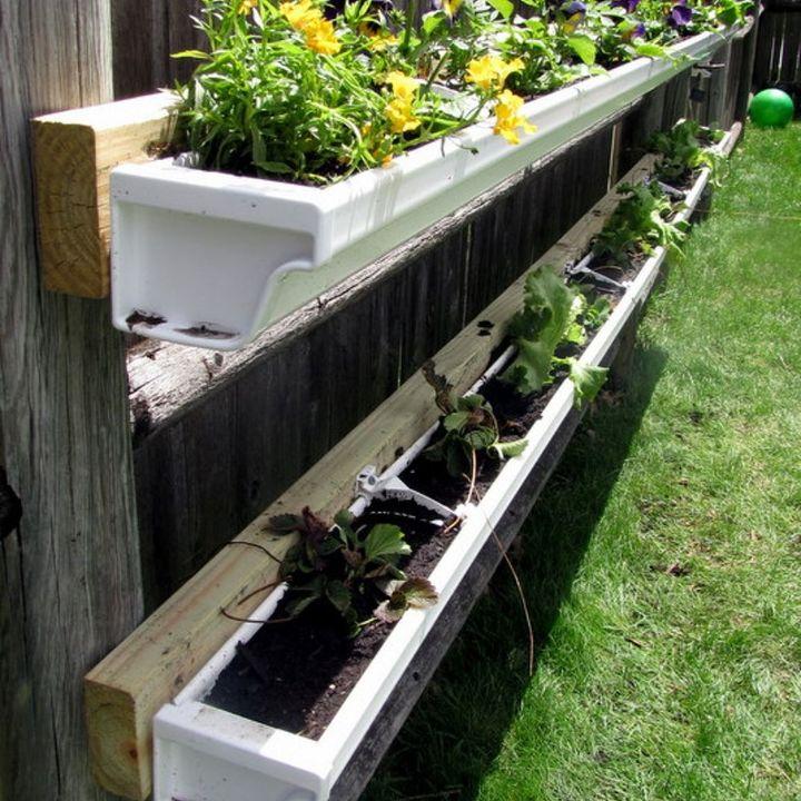 DIY Gutter Garden | Hometalk