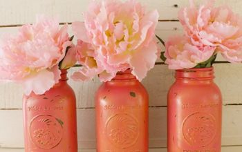 Chalk Painted Pink and Gold Mason Jars - Almost a Craft Fail...