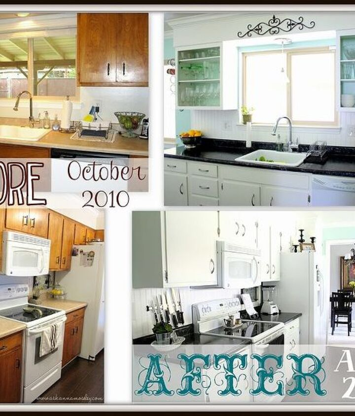 Before and after pictures.  It's a totally different kitchen!