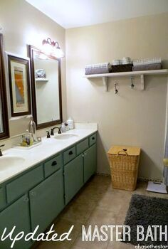 master bathroom update, bathroom ideas, home decor, New Pfister faucets complete the look in this simple master bath makeover
