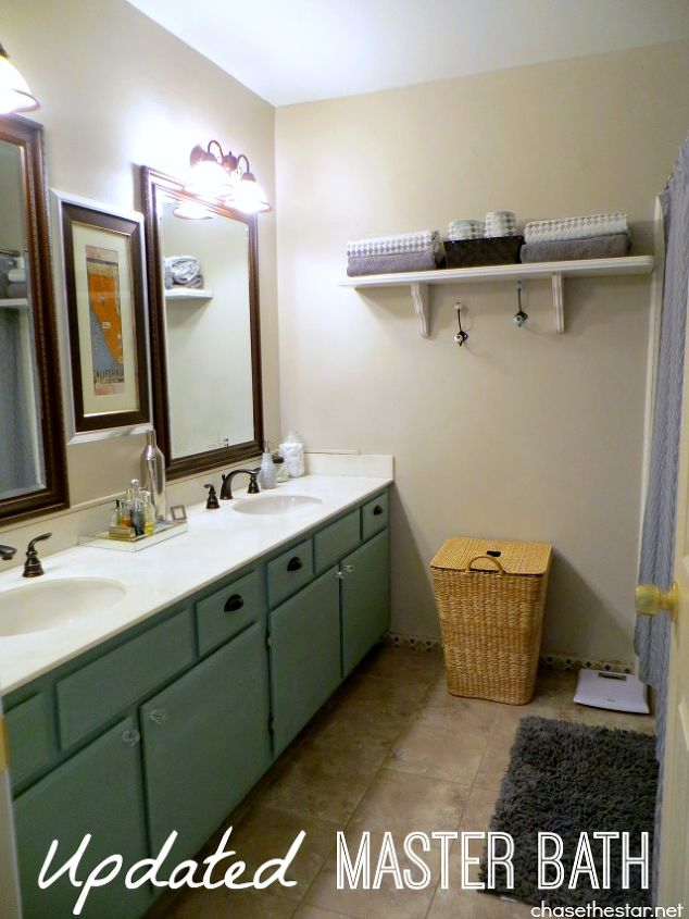 New #Pfister faucets complete the look in this simple master bath makeover!