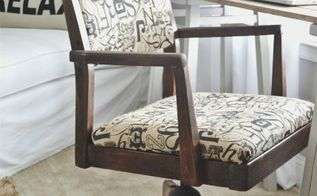 vintage desk chair makeover, painted furniture
