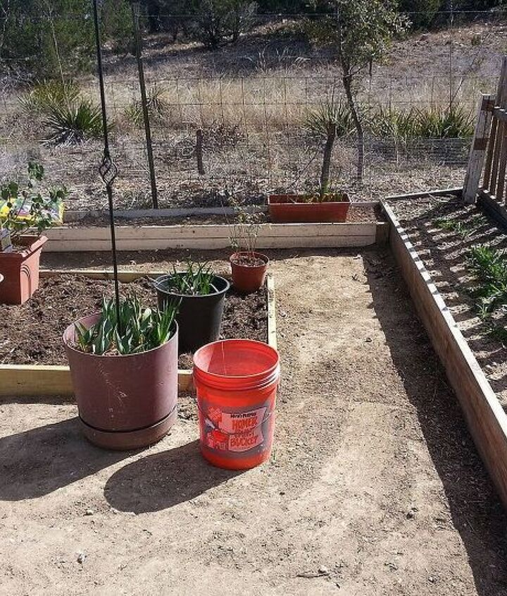 I just added this first smaller bed, it is designated for tomatoes, peppers and herbs.