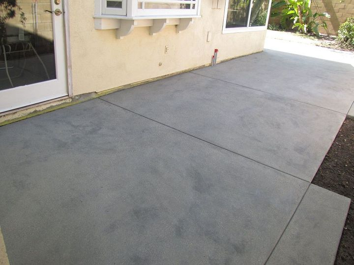 q newly poured concrete has dark spots and streaks throughout help, concrete masonry, patio
