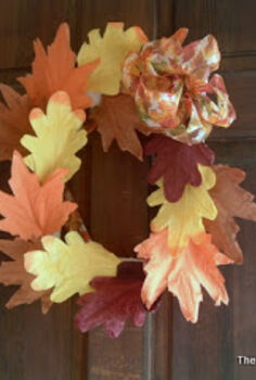 fall wreath from a picture frame, crafts, doors, seasonal holiday decor, wreaths, A square wreath for fall