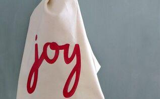 diy christmas dish towel, christmas decorations, seasonal holiday decor