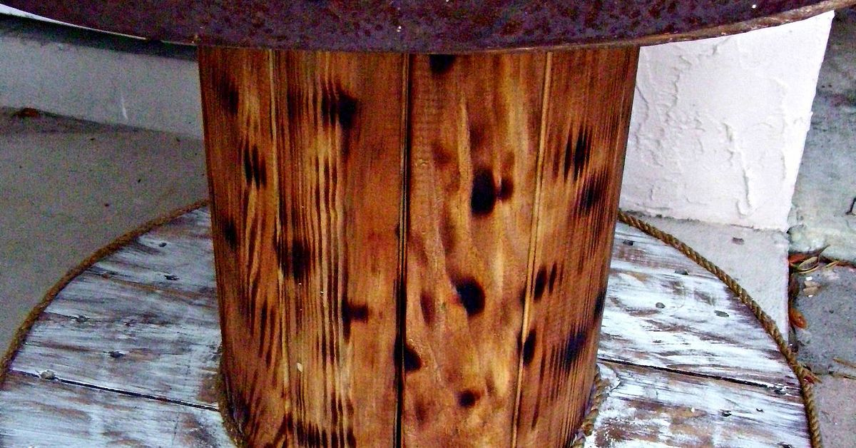 Cable Spool And Old Barrel Table Hometalk