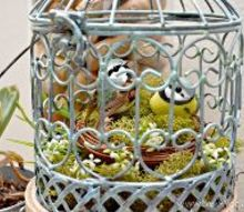 spring bird cage mpinterestparty, crafts, home decor