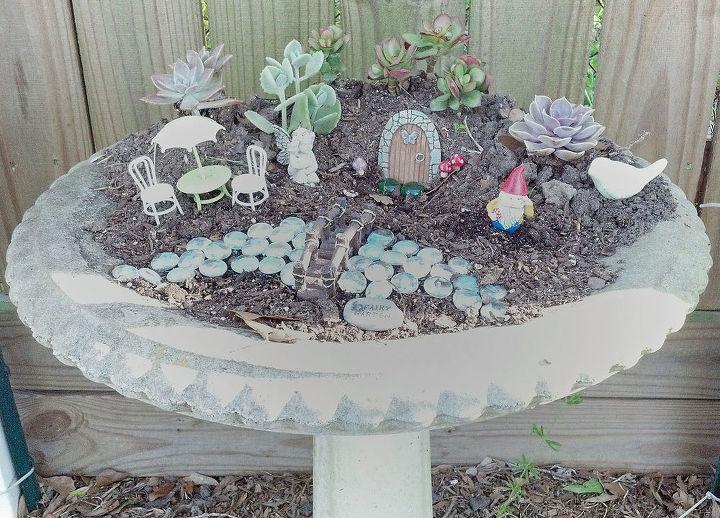 my fairy garden, crafts, gardening, repurposing upcycling