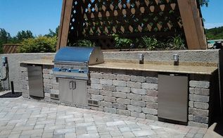cedar lake outdoor kitchen, kitchen design, outdoor living, patio, Photo of finished project