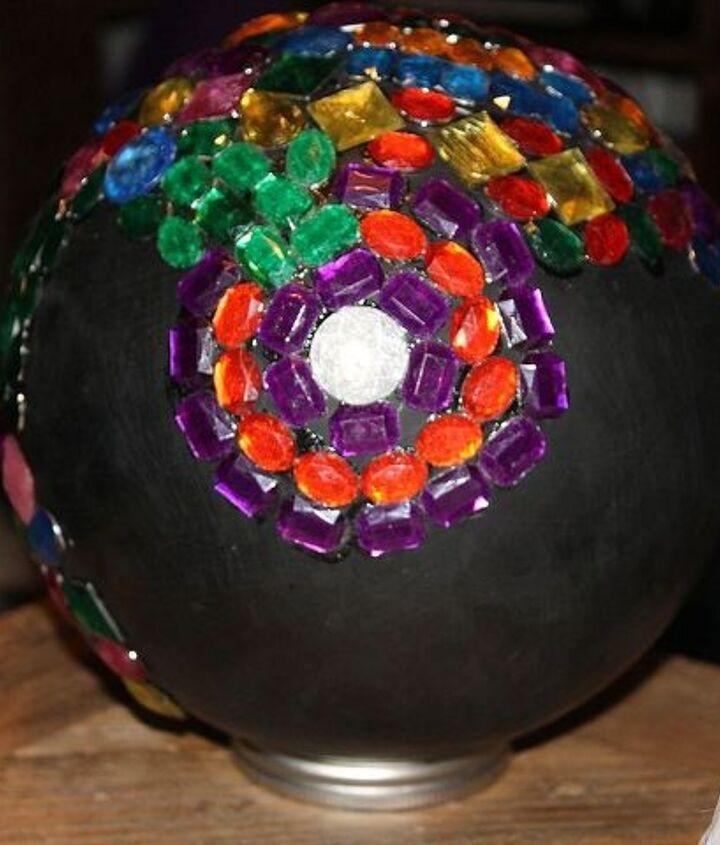 homemade gazing balls, repurposing upcycling