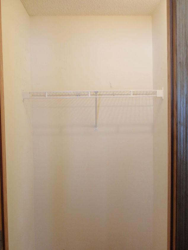 coat closet made into a simple walkin pantry, closet, storage ideas, A simply closet Before