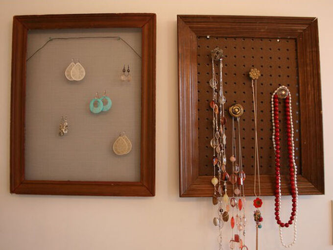 how to decorate your wall with your jewelry, cleaning tips, crafts, repurposing upcycling, DIY Jewelry Hanger