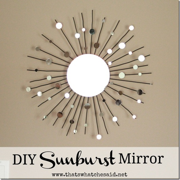 diy sunburst mirror from a candle holder, crafts, home decor, repurposing upcycling, Make a stunning Starburst MIrror for about 10