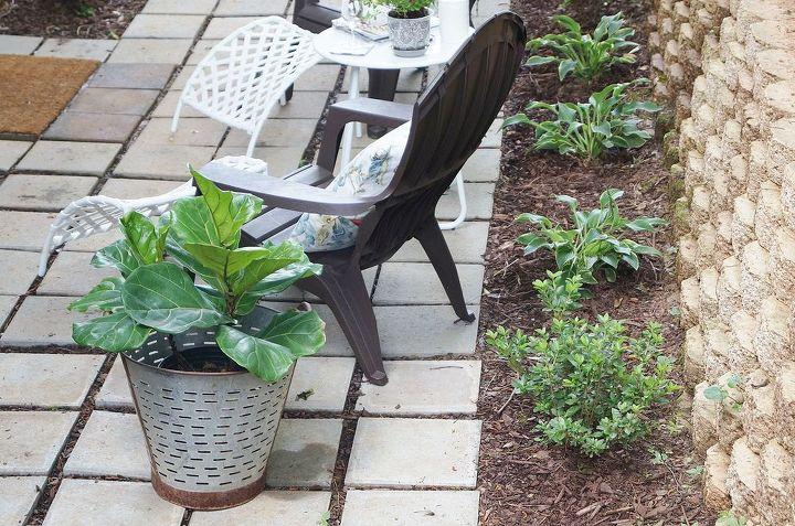 patio makeover and reveal, decks, gardening, landscape, outdoor living, patio