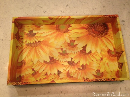 tray makeover trash to treasure, crafts, decoupage