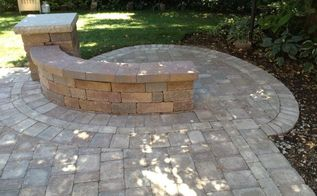 brick patio naperville il, outdoor living, patio, A nice bump out to see the neighbors pond we put in