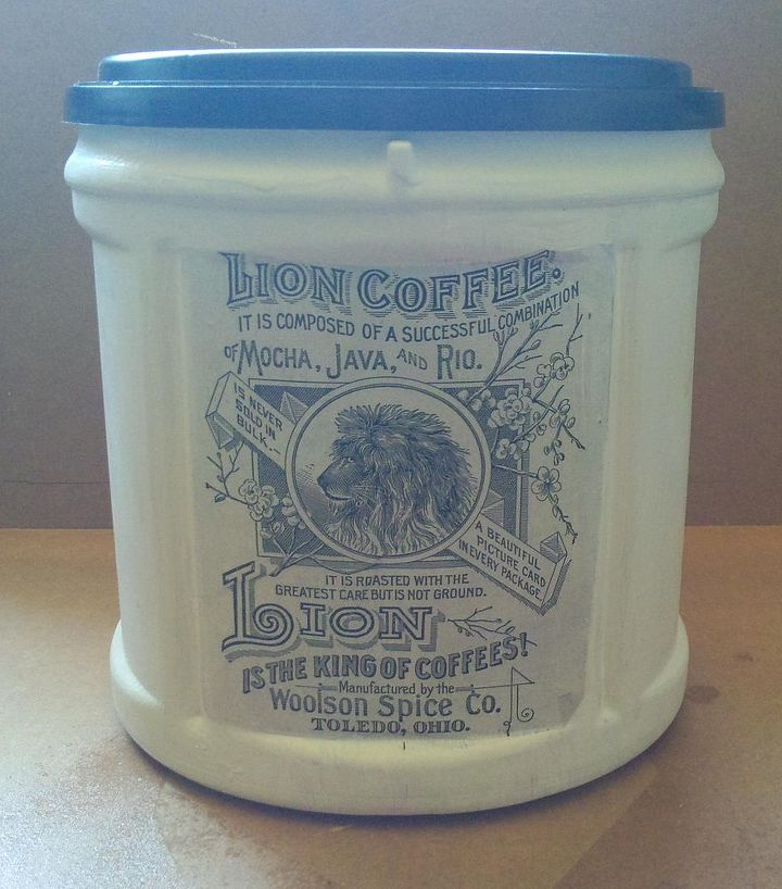 Recycled/upcycled coffee containers.