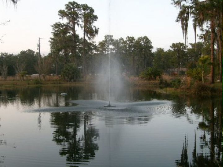 water feature on a natural pond, decks, landscape, outdoor living, ponds water features